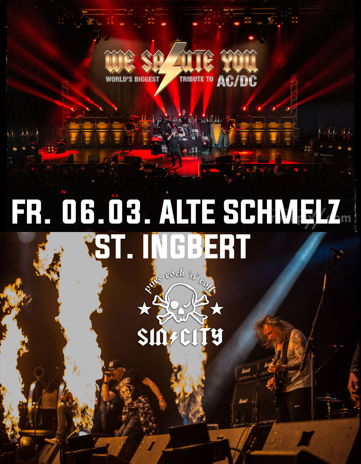 06.03.20 - ALTE SCHMELZ ST. INGBERT<br>SIN/CITY supports WE SALUTE YOU.
